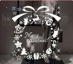 Christmas-wreath-snowflake-sticker-glass-stickers-window-stickers-Christmas-window-decoration-More-Than-100-font-b.jpg (704×621)