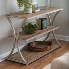 Belham Living Edison Reclaimed Wood Console Table - Whether you place the Belham…