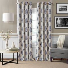 Clean and modern design, the Navara Ikat Max Blackout Thermal Grommet Single Curtain Panel feature a block print medallion motif on an easy care polyester/linen blend fabric. These Room Darkening panels are Custom Drapes, Window Curtains, Elrene Home Fashions, Curtains, Panel Curtains, Drapes Curtains, Colorful Curtains, Home Decor, Blackout Curtains