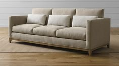 Crate and Barrel: Taraval 3-Seat Sofa with Oak Base (take away the three little pillows though)