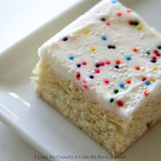 Sugar Cookie Bars-- my favorite cookie in bar form!