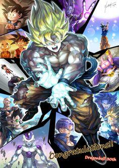 Son Gokuu, Frieza, Hakaishin Bills, Kuririn, Majin Buu, Nappa, Piccolo Daimaou, Son Gohan, Trunks & Vegeta, Dragon Ball
