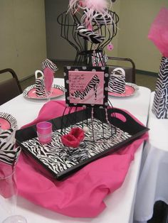 "Photo 3 of 20: Zebra and hot pink / Baby Shower/Sip & See ""Meeyah's Girly Shower"" 