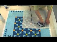 Great quilting tut. on squaring, blocking and basting quilts for home machine quilting.