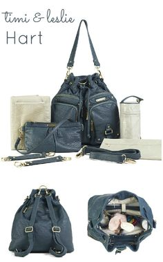 *new* timi & leslie Hart Diaper Bag:: convertible backpack style backpack