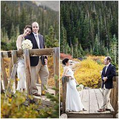 Real Weddings: Daniel & Kellie's Colorado Wilderness Elopement - See intimateweddings.com