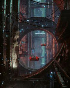 Cyberpunk City, Cyberpunk Kunst, Cyberpunk Aesthetic, Futuristic City, Futuristic Architecture, Neon Aesthetic, Cyberpunk Fashion, Fantasy Places, Sci Fi Fantasy