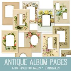 Emily and I have added another Fabulous Bundle to our site The Graphics Fairy Premium Membership!! This week's Bundle is a GorgeousAntique Album Pages Kit! This Bundle includes: 15 high resolution images (.png) 8 printables (journal cover (.pdf), journaling tabs(.pdf), 6 floral frames (.png)) In this collection we are offering15 High Resolution Victorian Album Pages! …