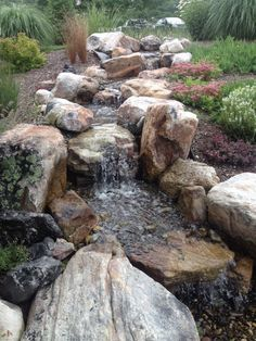 This Project consisted of a Pondless Waterfall Memorial installation in Hummlestown, PA at the Allegheny Valley School. The Pondless Waterfall has dueling strea…