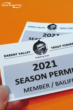 Cling car permits custom printed for the Darent Valley Fly Fishing Club, so their members can clearly display their membership in their car windscreens. Our cling car permits have do not leave any sticky residue when removed, making them ideal for annual permits, as they stay put through static properties alone. Car Window Stickers, Car Stickers, Rear Window, Custom Cars, Fly Fishing, Screen Printing, Club, Display, Printed