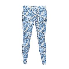 Floral Penis Pattern  - Looking for a new french toile pattern to embelish your outfit? Something that is nice, flowery, and with mildly offensive genitalia to your mother once she stares at it too long? These subtle floral penis pattern leggings are for you!