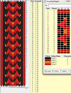 Card Weaving, Weaving Art, Loom Weaving, Basket Weaving, Card Patterns, Beading Patterns, Inkle Weaving Patterns, Art Tablet, Iris Folding Pattern