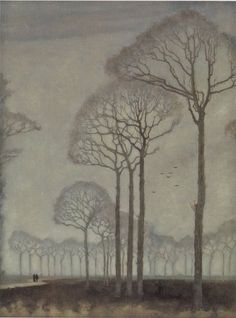 Jan Mankes. 'Bomnrij (Tree Row), 1915. (artemis dreaming, colors of life)
