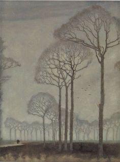 Bomenrij (Tree Row), 1915    Jan Mankes