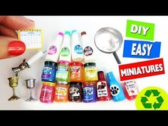 10 Easy DIY Miniatures - each in less than 1 minute #2 - simplekidscrafts - YouTube