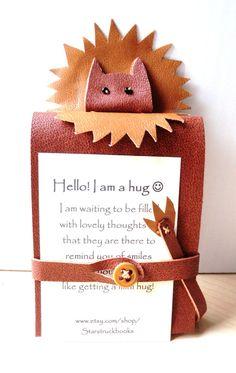 Mini Lion Hug Book Feel Better Book Brown by Starstruckbooks