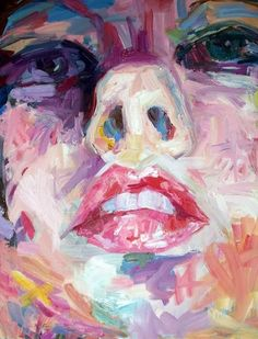 Oil Painting - Abstract Expressionist portrait. Dollface (The Double Bind) - shealeigh.etsy.com
