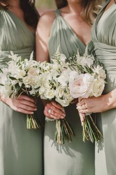 Top 6 Sage Green Weddings Color Palettes---Sage & Blush, garden wedding of bridesmaids with elegant bouquets , elegant and fresh country wedding,spring weddings in the countryside fall/winter wedding ideas. Spring Bridesmaid Dresses, Spring Wedding Bouquets, Bridesmaid Flowers, Wedding Bridesmaids, Spring Weddings, Bridesmaid Ideas, Bride Bouquets, Bride Dresses, Wedding Dresses