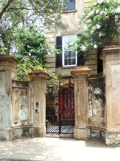 Beautiful weathered entrance on this Charleston SC home