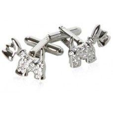 Crystal Dog Cufflinks