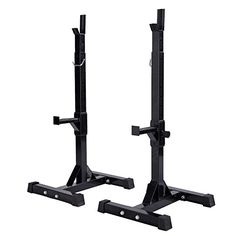 ShopperChoice Pair of Adjustable Standard Solid Steel Squat Stands Barbell Free Press Bench >>> See this great product.(This is an Amazon affiliate link)