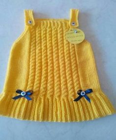 Knit Baby Vest Cardigan Dress Samples Source by lifmodeli Baby Girl Frocks, Frocks For Girls, Baby Sweater Patterns, Baby Knitting Patterns, Dress Patterns, Crochet Patterns, Baby Pullover, Baby Cardigan, Girls Sweaters