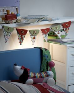 One of the projects from Sew Advent Calendars, this could be bunting for all year round!