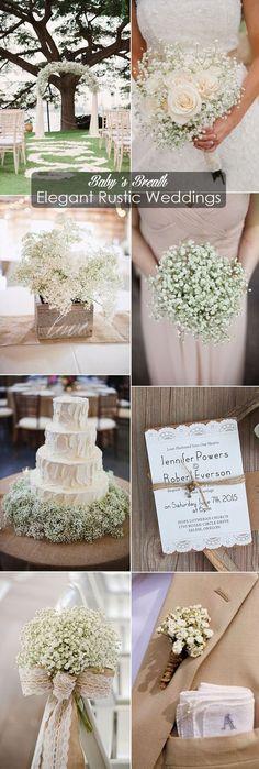inspirational baby's breath elegant rustic wedding ideas