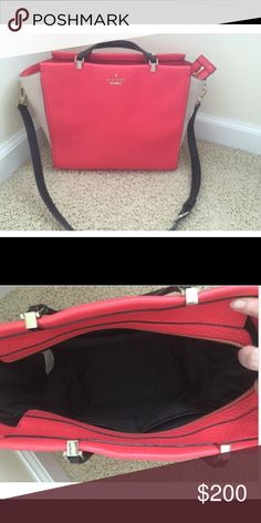 Kate Spade Hayden I pursed directly from KS in summer of 2015. Small wear on inside and outside of purse. Used 6 months total. To small for me. Non smoking. The color is Geranium kate spade Bags Crossbody Bags