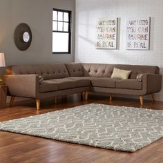 $949.99 - Aquila Sectional Sofa by Mercury Row