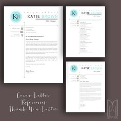 Page Resume Template  Cover Letter For Word  Resume Words
