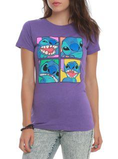 Disney Lilo & Stitch Four Boxes Girls T-Shirt | Hot Topic