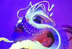 "James Merry—""Ghost Orchid"" headpiece for Björk Ghost Orchid, Bjork, Tecno, Art Plastique, Musical, Headdress, Alter, Headpieces, Psychedelic"