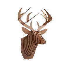 Bucky Deer Trophy Brown  by Cardboard Safari  #Antler #Antlers