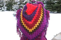 Hey, I found this really awesome Etsy listing at https://www.etsy.com/listing/182011163/redpurple-multi-triangle-crochet-scarf