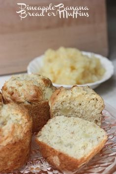 Pineapple Banana Bread @Jen (Balancing Beauty and Bedlam/10 Minute Dinners blogs) Pineapple Banana Muffins (or Bread)