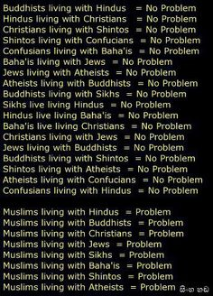 Muslims ARE The Problem !