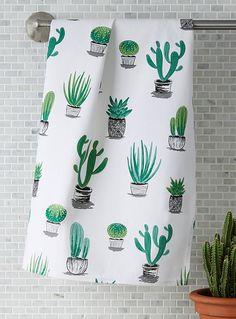 Cactus and succulent tea towel | Simons Maison | Decorative Kitchen Linens Online | Simons