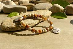 Bracelet en pierres d'agate naturelle, bijou hippie chic en pierres, bracelet zen, bracelet agate : Bracelet par lapassiondisabelle