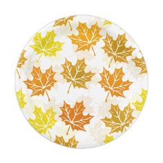 Maple Leaf Autumn Leaves Fall Foliage Thanksgiving Paper Plate - guest gifts gift idea diy personalize