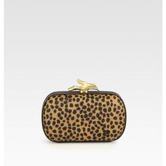 Diane von Furstenberg Spotted Hair Calf Clutch ❤ liked on Polyvore
