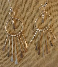 Handcrafted Hammered Sterling Silver Earrings by MLRanchJewelry, $40.00