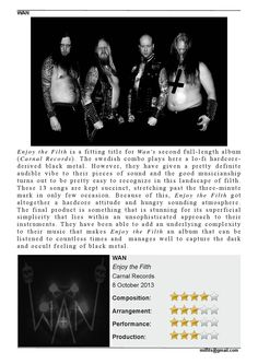 "CD Review: #WAN ""Enjoy the Filth"" #MILFITS 'zine (issue#3)"