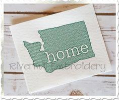 $2.95Sketch Style Washington Home Machine Embroidery Design