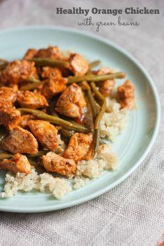 Healthy Orange Chicken with Green Beans