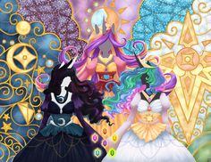 My+Little+Pony+deviantART | My Little Pony Princesses by ~Izuma on deviantART
