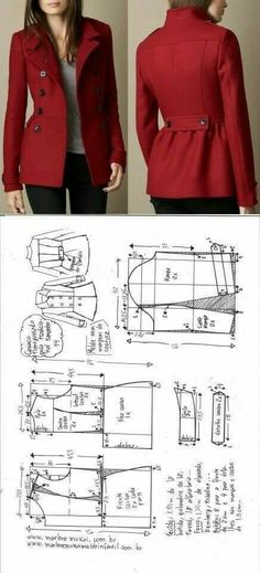 29 Ideas Sewing Clothes Women Coats Jackets For 2019 Coat Patterns, Dress Sewing Patterns, Clothing Patterns, Sewing Clothes Women, Diy Clothing, Clothes For Women, Fashion Sewing, Diy Fashion, Ideias Fashion