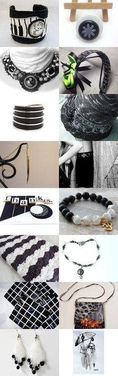 Black and White - #etsy #treasury #shopping