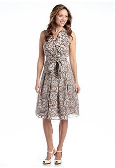 Evan Picone Sleeveless Fit and Flare Dress