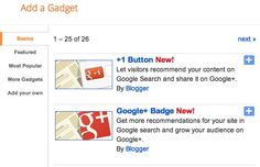 Google Plus Widgets For #Blogger Blogs Give a Push to #Google+
